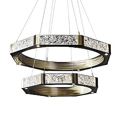 Glacier Two-Tier Ring Chandelier