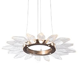 Rock Crystal Radial Ring LED Chandelier