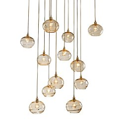 Coppa Square Multi-Light Pendant Light