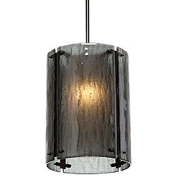 Textured Glass Oversized Pendant Light