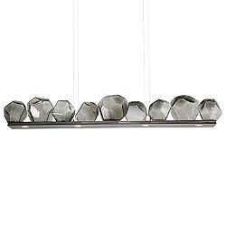 Gem Bezel LED Linear Suspension Light