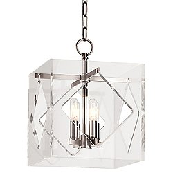 Travis Four Light Pendant (Nickel/Small) - OPEN BOX RETURN