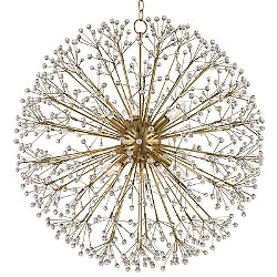 Dunkirk Chandelier (Aged Brass/Large) - OPEN BOX RETURN