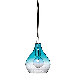 Small Curved Pendant Light (Aqua Gradient) - OPEN BOX RETURN by Jamie Young Co.
