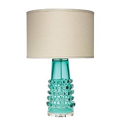 Tall Ribbon Table Lamp (Lake Blue/Linen) - OPEN BOX RETURN
