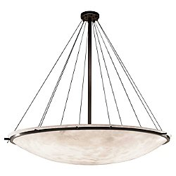 Clouds 72-Inch Round Bowl w/ Ring Pendant Light