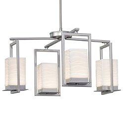 Porcelina Laguna 4-Light LED Outdoor Chandelier