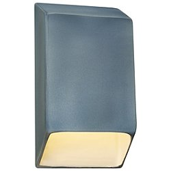 Ceramics ADA Tapered Rectangle Outdoor LED Wall Sconce (Closed Top)