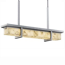 Alabaster Rocks! Monolith LED Outdoor Linear Suspension Light