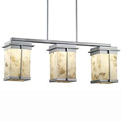 Alabaster Rocks! Pacific Three Light LED Outdoor Linear Suspension Light
