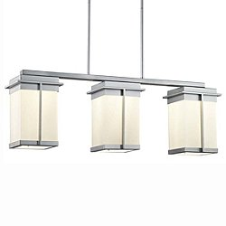 Fusion Pacific Three Light LED Outdoor Linear Suspension Light