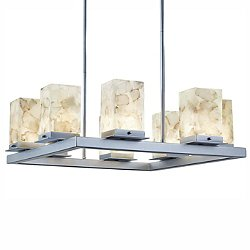 Alabaster Rocks! Laguna Eight Light LED Outdoor Chandelier