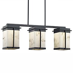 LumenAria Pacific Three Light LED Outdoor Linear Suspension Light