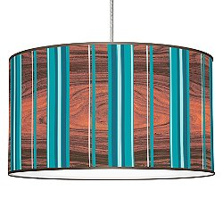 Vertical Stripey Pendant Light