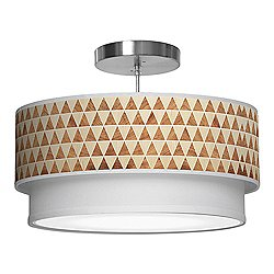 Triangle 2 Double Tiered Pendant Light