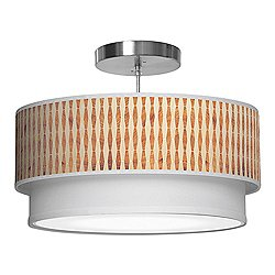 Weave 2 Double Tiered Pendant Light