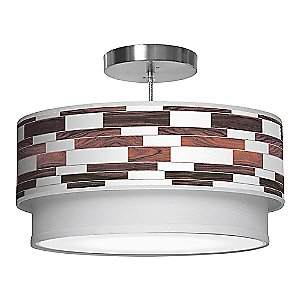Tile 3 Double Tiered Pendant Light by jefdesigns