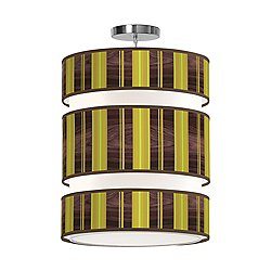 Vertical Stripey 3-Tier Pendant Light