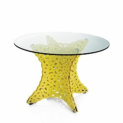 Topiary Dining Table with Tempered Glass Top