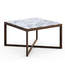 Krusin Square End Table with Marble Table Top