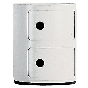 Componibili Round, Modular Stacking Units (White/2 Hi) - OPEN BOX RETURN by Kartell