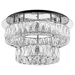 Solaris 2-Tier LED Flush Mount Ceiling Light