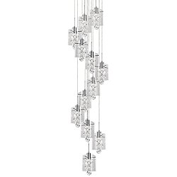 Navi Waterfall LED Multi-Light Pendant Light