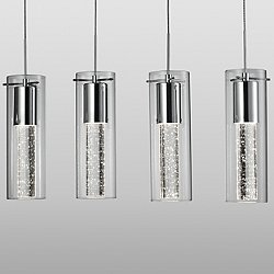 Champagne LED Linear Suspension Light