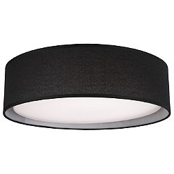 Dalton LED Flush Mount Ceiling Light (Black/16-Inch) - OPEN BOX RETURN