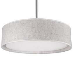 Dalton LED Semi-Flush Mount Ceiling Light No. PD7916 (Beige/16-Inch) - OPEN BOX RETURN