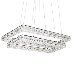 Solaris 2 Tier Rectangular LED Chandelier