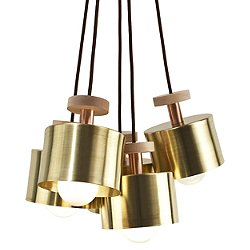 Spun 5-Light Cluster Pendant Light