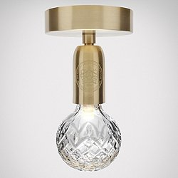 Crystal Bulb LED Semi-Flush Mount Ceiling Light