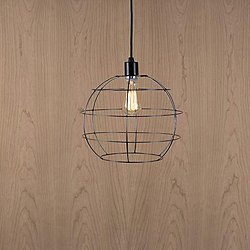 Color Swag Globe Cage Pendant Light with Cord Kit