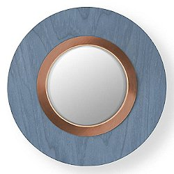 Lens Circular LED Wall Sconce - Blue