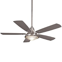 Groton 56 Inch Indoor/Outdoor Ceiling Fan (Nickel with Silver) - OPEN BOX RETURN