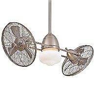 Gyro Wet 42 in. Ceiling Fan (Brushed Nickel) - OPEN BOX
