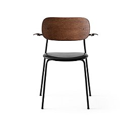 Co Chair with Arms, Leather Seat