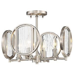Via Capri Semi-Flush Mount Ceiling Light by Minka-Lavery