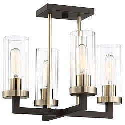 Ainsley Court 4-Light Semi-Flush Mount Ceiling Light