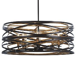 Vortic Flow Drum Shade Pendant Light