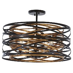 Vortic Flow Semi-Flush Mount Ceiling Light / Pendant Light