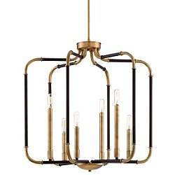 Liege 6-Light Chandelier (Bronze w/ Brass) - OPEN BOX RETURN