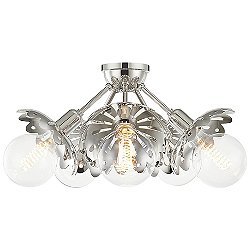 Alyssa Five Light Semi-Flush Mount Ceiling Light