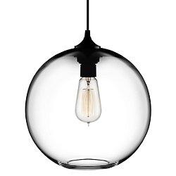 Solitaire Pendant Light (Crystal/A19/Black/Black) - OPEN BOX