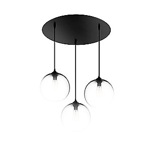 3 Light Round Multipoint Canopy by Niche