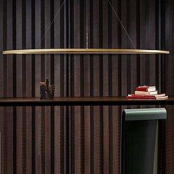 Ellisse Mega Pendant(Gold Painted/Downlight)-OPEN BOX RETURN