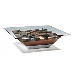 Cubes Cocktail Table with Glass