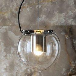 The Globe Pendant by Oluce (Satin Nickel/L)-OPEN BOX RETURN
