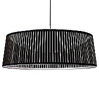 Solis Drum LED Pendant Light (Black/36 inch) - OPEN BOX RETURN